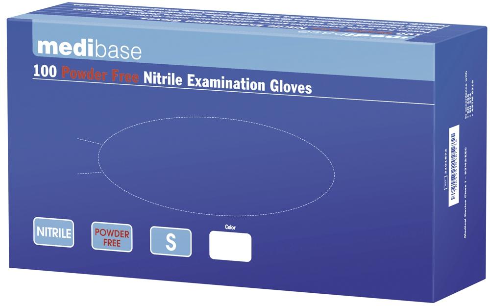 Gants en nitrile non poudrés La boîte de 100 gants blancs 53-610