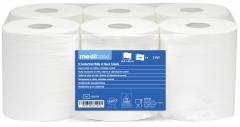 Bobines blanches d'essuiemains en pure ouate de cellulose  53-809