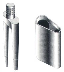Preci pins Pin double avec gaine et stops caoutchouc  01-655