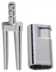 Bi-V-Pin avec gaine  01-624