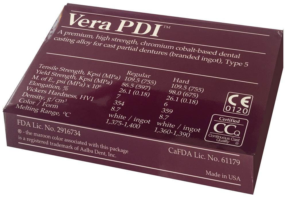 Vera PDI (Co-Cr-Mo) Durabilité Hard 06-110