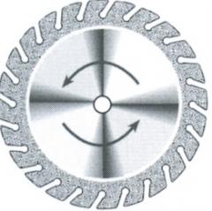 Disques diamantés crantés 705 fin Superflex  10-595