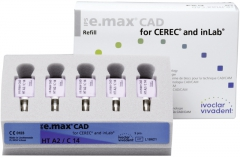 IPS E. MAX CAD HT (Haute Translucidité) C14 La boîte de 5, inLab HT C14 BL 42-1899