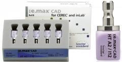 IPS e.max CAD Veneering Solutions HT (Haute Translucidité) I12 LA boîte de 5, inLab HT I12 BL 42-1879