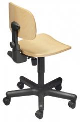 Chaise laboratoire en bois avec pied noir  sdfn